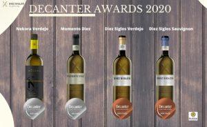 Los vinos verdejo de Diez Siglos gana 4 premios Decanter